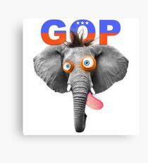 GOP (Republican Party) Mascot Canvas Print