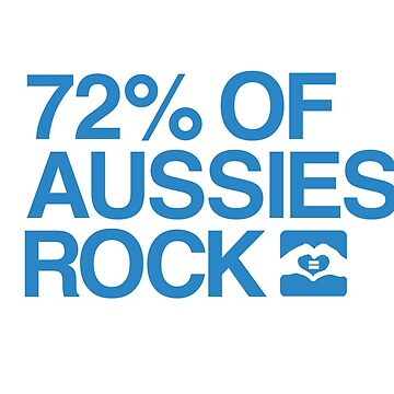 72% of Aussies Rock! by jayame