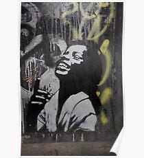 "Banksy Style Stencil Graffiti -  ""Happy"" Poster"