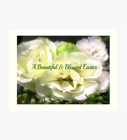 Lisianthus makes a beautiful card for Easter Art Print