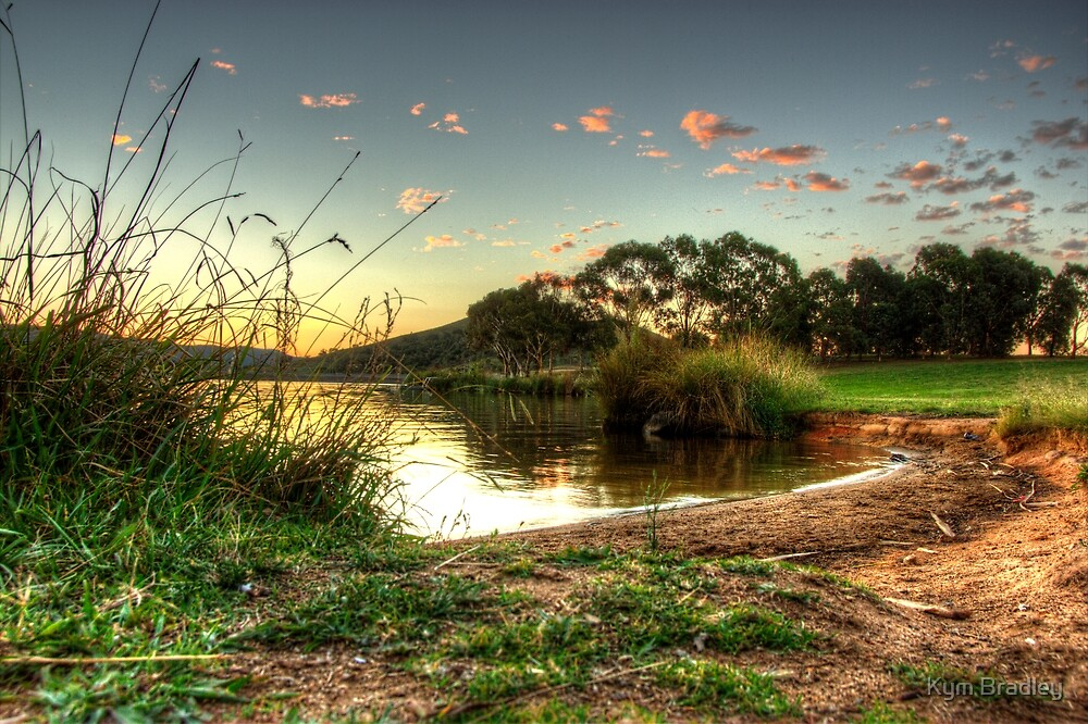 An Evening in  March 2013  at Lake Tuggeranong Canberra  Australia  by Kym Bradley