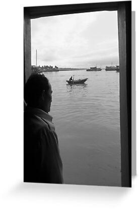 Ha Long Boats by Andrew Permezel