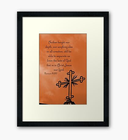 Roman Cross Framed Print