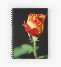 Fiery Rose Spiral Notebook