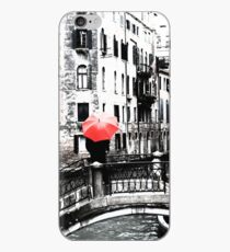 Red Umbrella in Venice iPhone Case