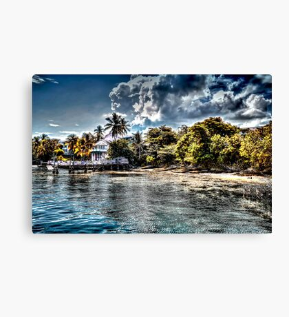 Old Beach House in Nassau, The Bahamas Canvas Print