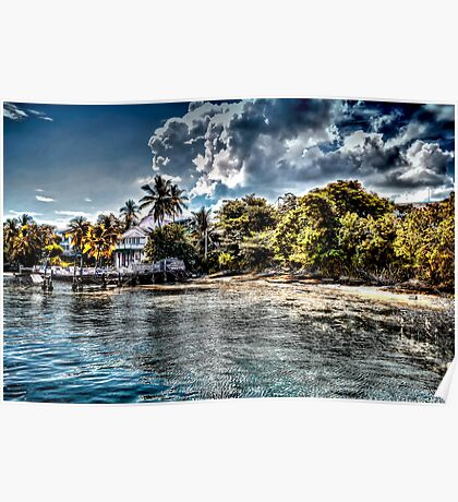 Old Beach House in Nassau, The Bahamas Poster