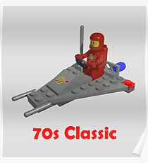 70s Classic Space Lego Poster