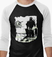 Silhouette of the Colossus white Men's Baseball ¾ T-Shirt