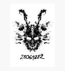 Imaginary Inkblot- Donnie Darko Shirt Photographic Print