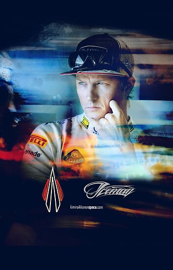 Quot Iceman Stare Poster Cards Kimi Raikkonen Quot Posters By