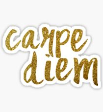 Carpe Diem (glitter) Sticker