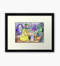 The roleplaying session Framed Print