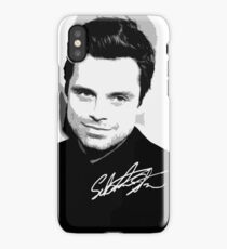 Sebastian Stan B&W Cutouts W/Signature iPhone Case