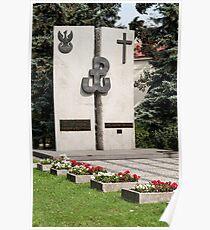 Polish memorial. Poster