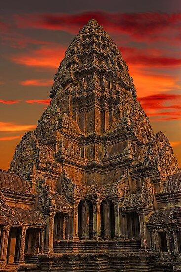 Cambodia. Angkor Wat. Sunset. by vadim19
