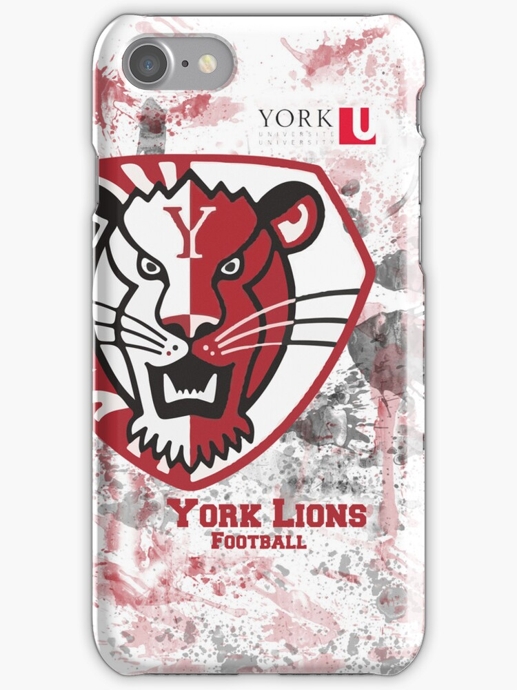 York U Football iPhone Case by Mack8365