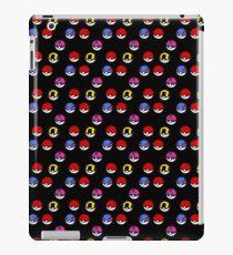 Pokeball Parade in Black iPad Case/Skin