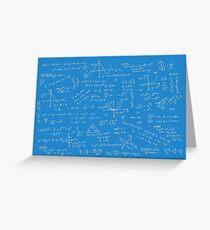 Algebra Math Sheet 2 Greeting Card