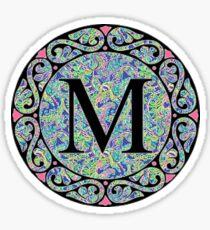 Cute Preppy Toucan Play Monogram M Sticker