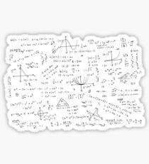 Algebra Math Sheet 3 Sticker