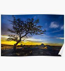 Sunset over Dog Rocks - Batesford Victoria - 2013 Poster