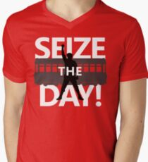 Seize The Day! Mens V-Neck T-Shirt