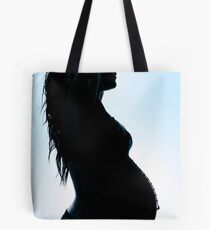 Creation in Blue Tote Bag