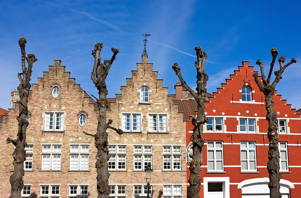 Quot Traditional Old Belgium House Facades In Bruges Quot By