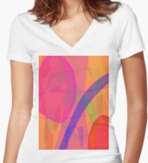 Purple Rainbow Women's Fitted V-Neck T-Shirt