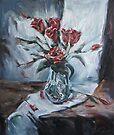 Still-Life with Roses by Stefano Popovski