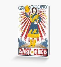 Patsy Cline Poster. Grand Ole Opry. Country Music. Nashville. TN.  Greeting Card