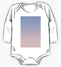 Pantone Colour of the Year 2016  Rose Quartz/ Serenity Ombre Long Sleeve Baby One-Piece