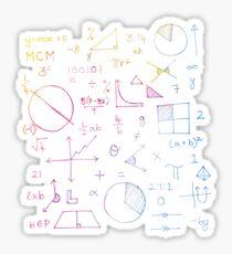 Math formulae (white) Sticker
