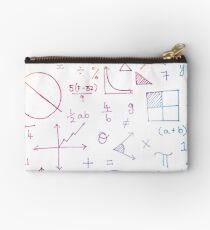 Math formulae (white) Studio Pouch