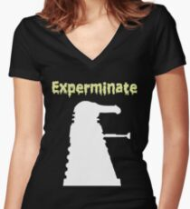 Experminate Women's Fitted V-Neck T-Shirt
