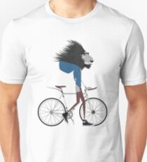 Hipster Lion and his Bicycle Unisex T-Shirt