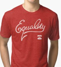 Equality - White Tri-blend T-Shirt
