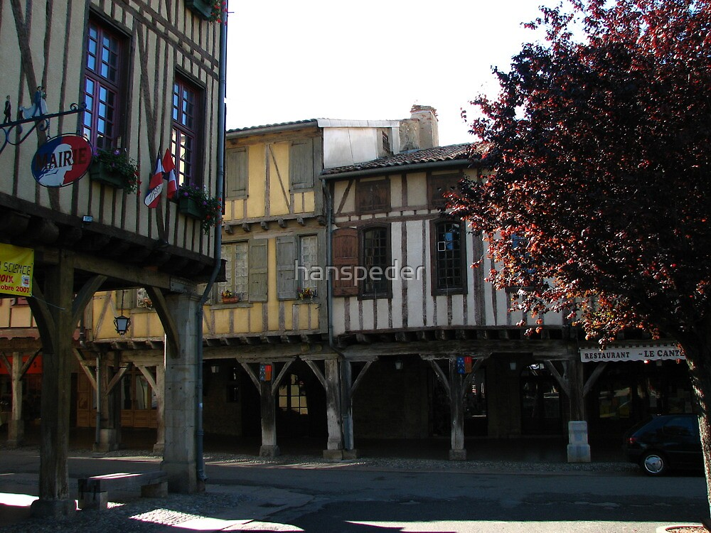 Bastide of Mirepoix  by hans p olsen