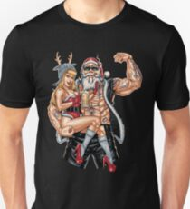 Strong Santa Claus X-Mas Pin Up Muscle Unisex T-Shirt