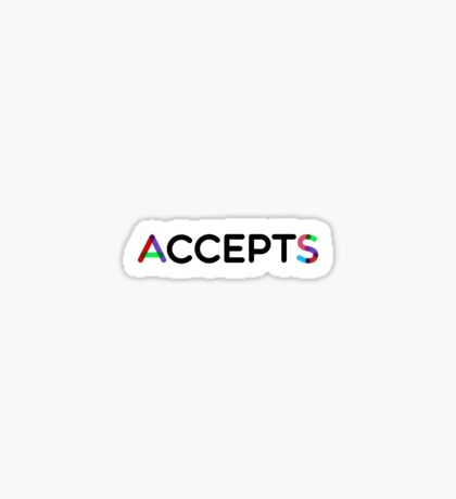 AcceptS - accept AS Sticker