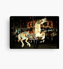 Beautiful Horse on the Carousel Canvas Print