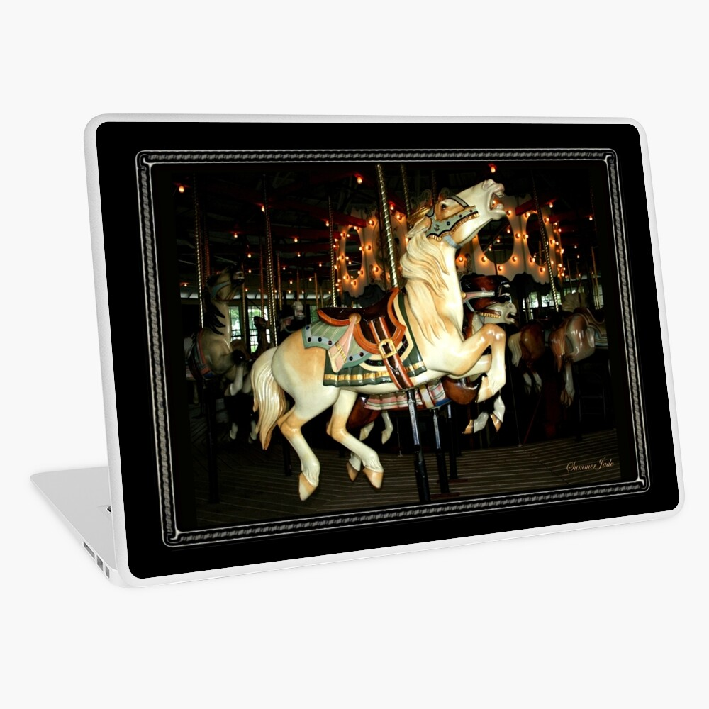 Beautiful Horse on the Carousel Laptop Skin
