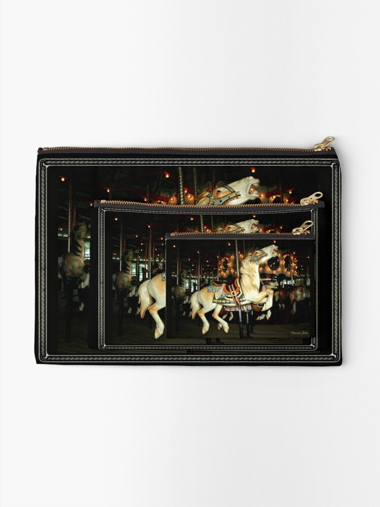Alternate view of Beautiful Horse on the Carousel Zipper Pouch