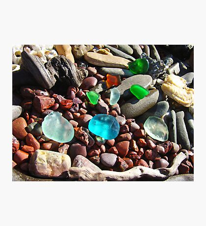 Seaglass Art Prints Coastal Beach Rocks Photographic Print