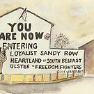 Postcards from Europe - Sandy Row by Gary Shaw