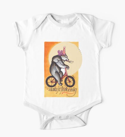 bear on a bicycle, natural talent shirt Kids Clothes