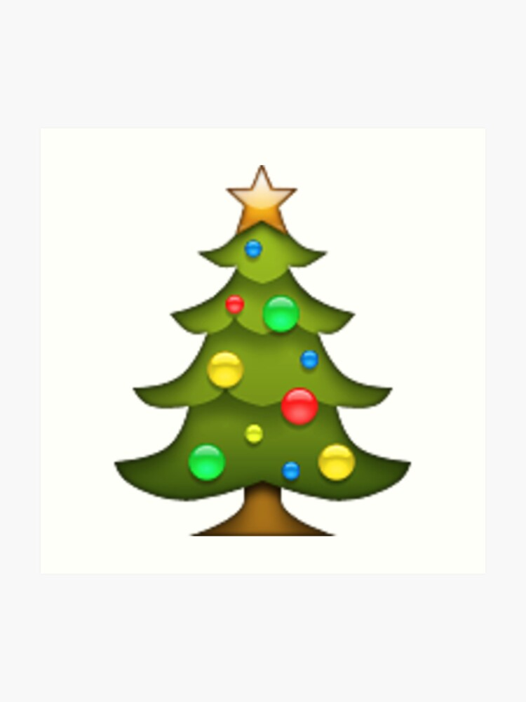 Christmas Tree Emoji.Christmas Tree Emoji Art Print