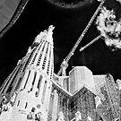 Sagrada Familia, Barcelona (B+W) by Stephen Knowles