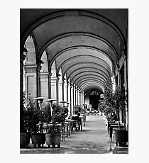 Siesta time at Placa Reial (B+W) Photographic Print